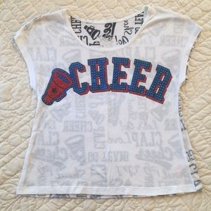 Justice Cute Cheer top size 10